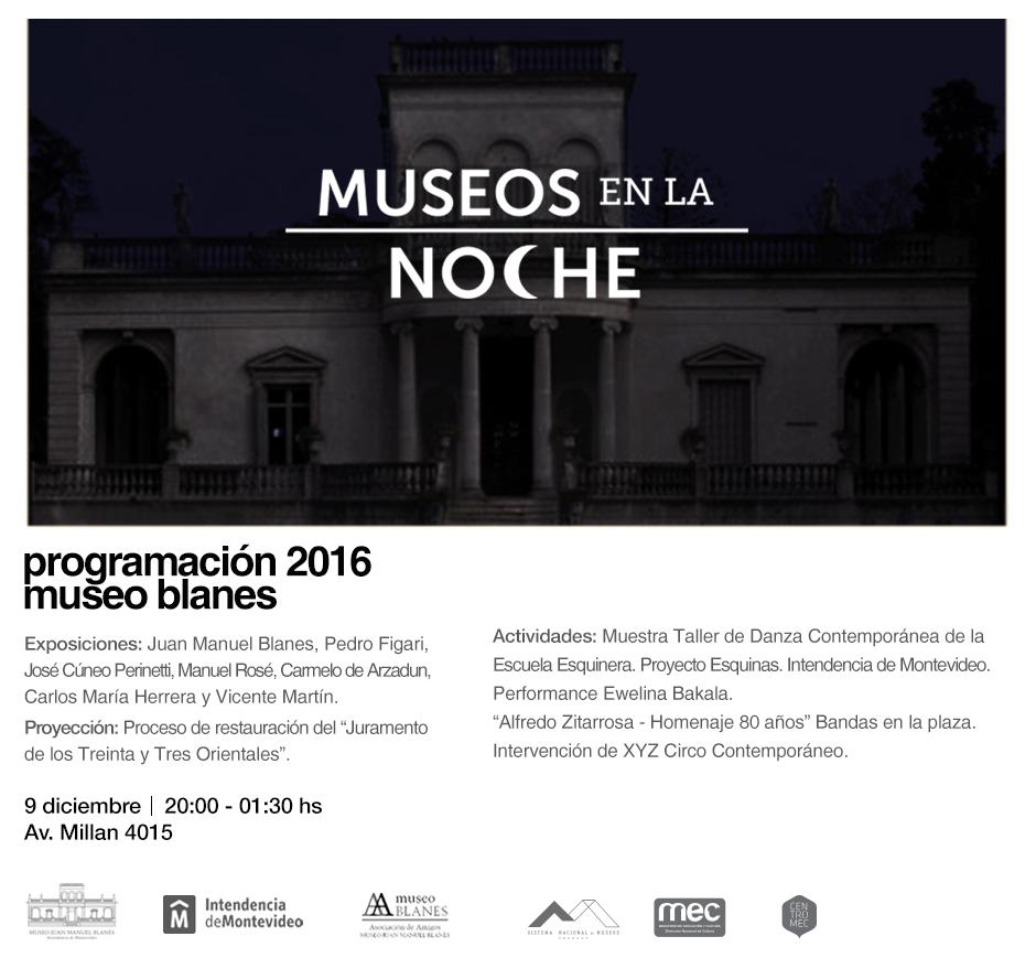 Museos en la Noche 2016 | Museo de Bellas Artes Juan Manuel Blanes